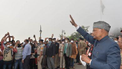 Photo of ….जब रिज पर घूमे भारत के प्रथम नागरिक