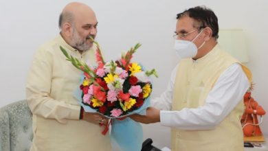 Photo of सुरेश भारद्वाज की केन्द्रीय गृह मंत्री अमित शाह से भेंट